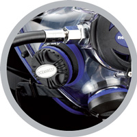 Ocean Reef IDM Integrated Dive Mask tank hookup image