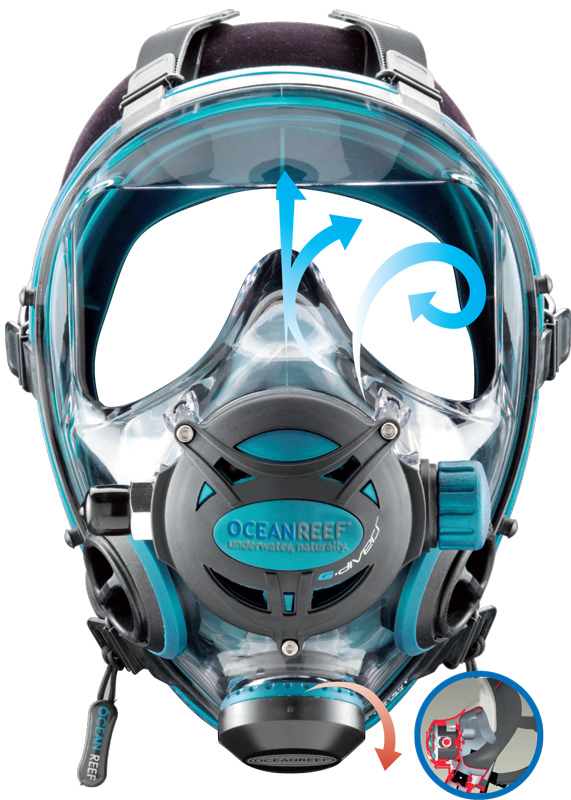 Ocean Reef full face IDM integrated diving mask image