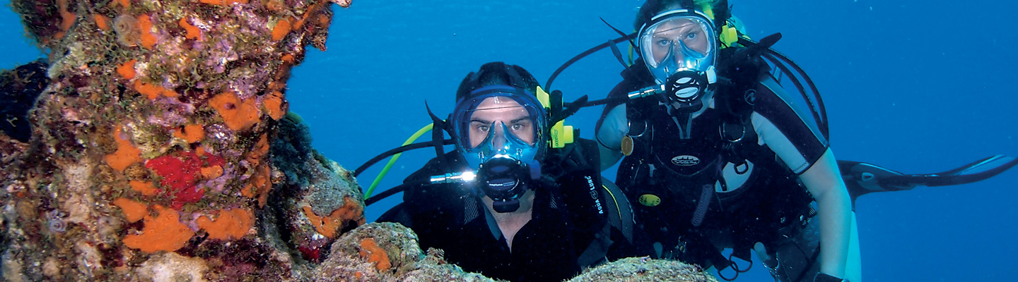 Dive with an Ocean Reef Full Face IDM (Integrated Diving Mask) Key Largo header image