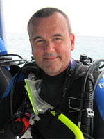 Photograph of Kirk McFarlin, PADI Elite Instructor Award 2016 in Key Largo, Florida Keys